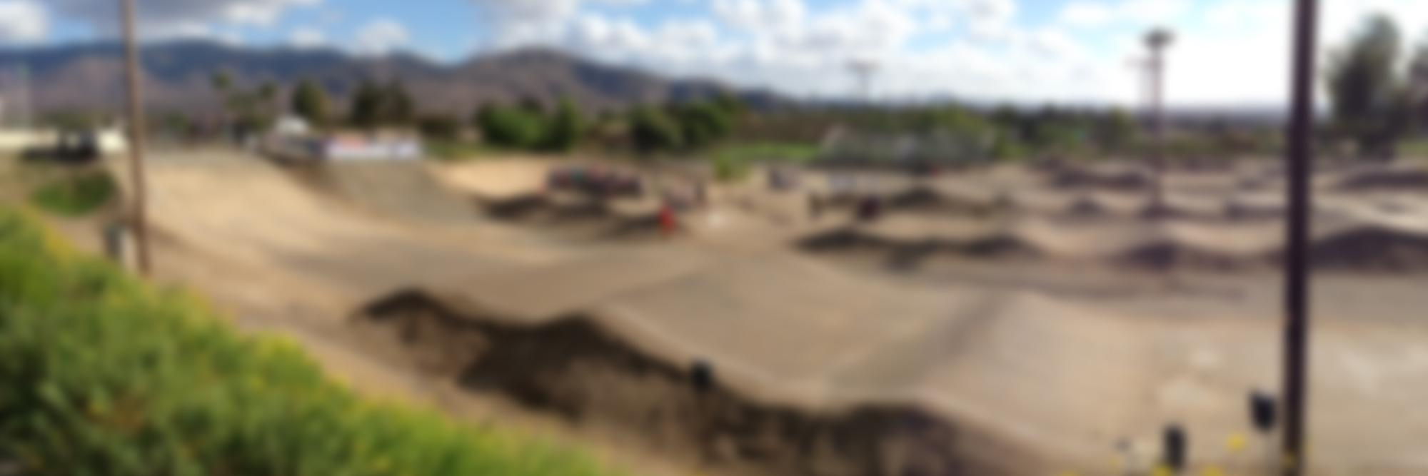 race track blurred