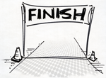 bmx finish line
